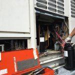 工場大型エアコン高圧コンプレッサー交換修理